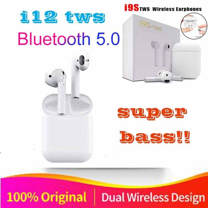 c3b0ac39d3f Original i9s i12 TWS 1:1 Air pods Wireless Bluetooth 5.0 super stereo bass  earbuds for iPhone apple ear pods pk i10 i11 I13 tws(China)