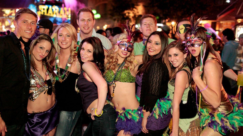 Mardi gras in strip club in mass