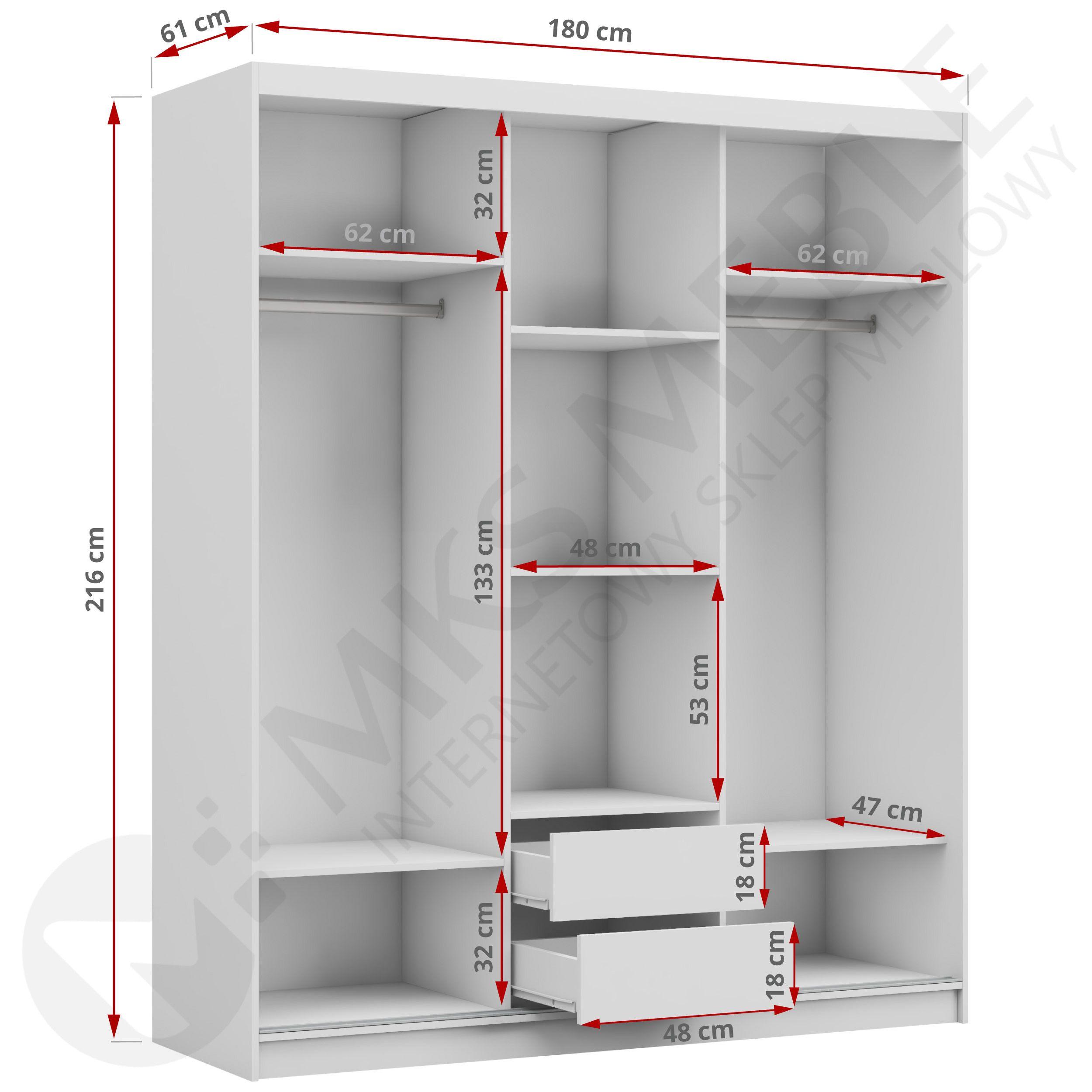 Duza Szafa Trzydrzwiowa Ze Szklem Lacobel I Lustrem Walencja Shelving Home Decor Shelves