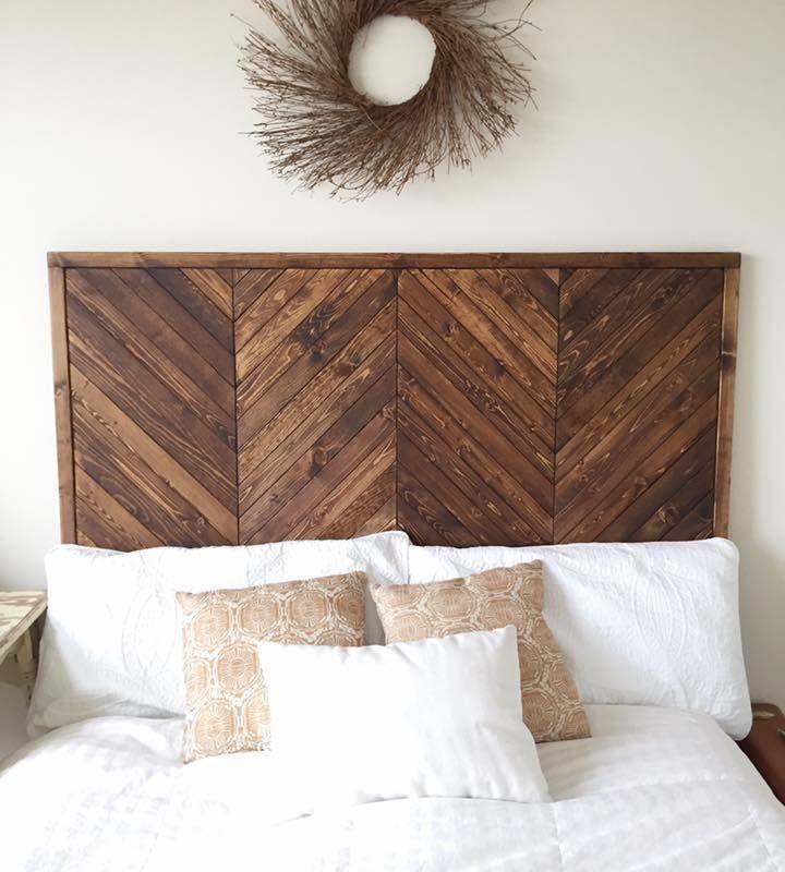Chevron Platform Bed In 2020 Diy Wood Headboard
