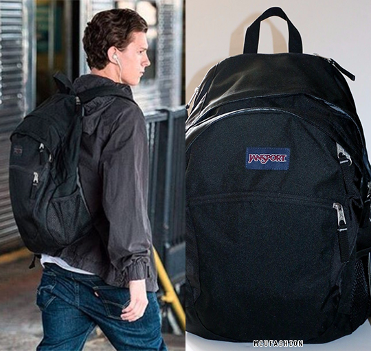 f39ea765 WHO: Tom Holland as Peter Parker WHAT: Jansport Wasabi Backpack - $34.22  WHERE: Spider-Man: Homecoming