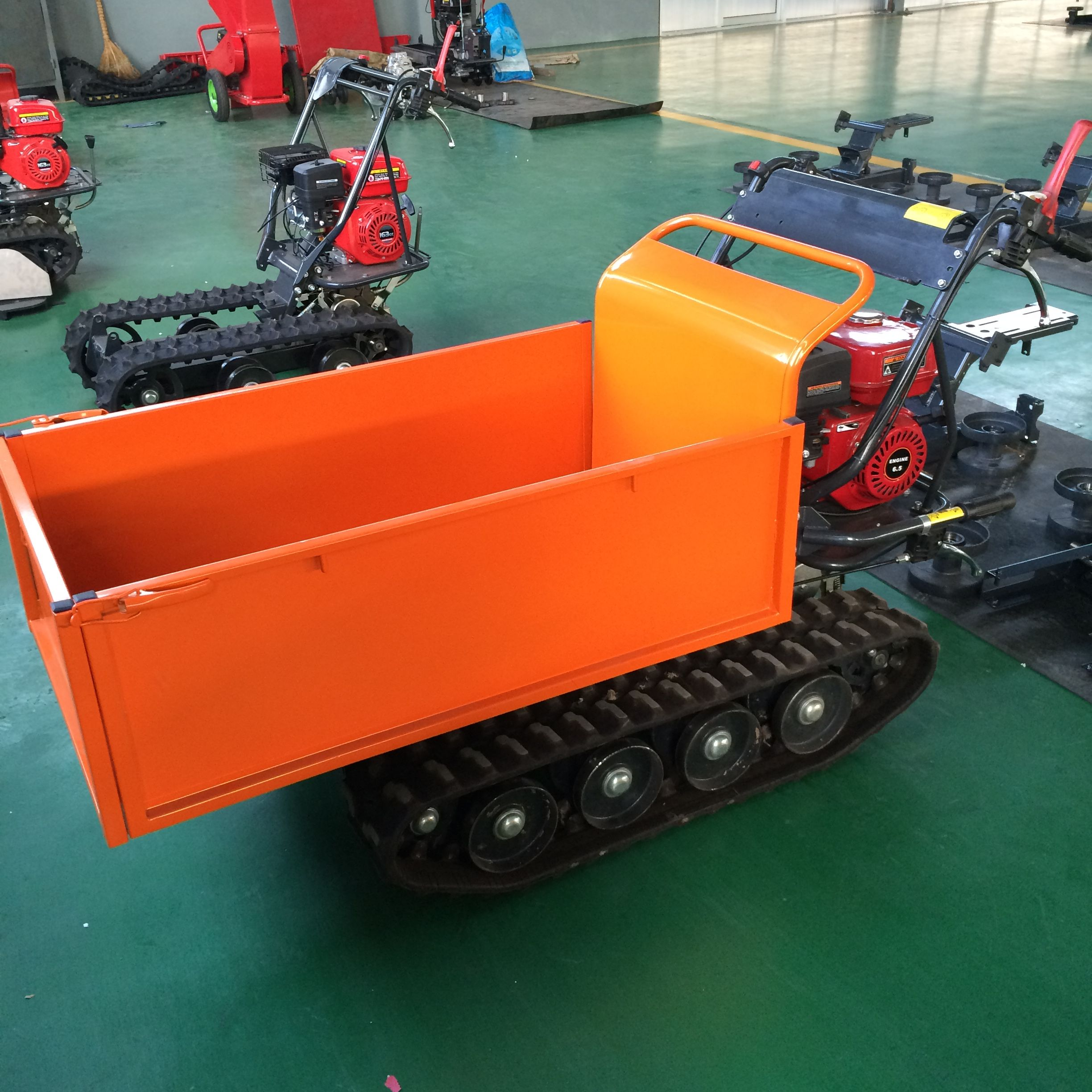 MINI dumper QTP500B Engine 6.5HP start mode manul fule