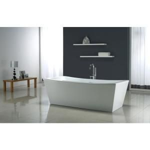 SAYS IT WONu0027T CHIP OR FADE. Ove Decors 5.8 Ft. Terra Center Drain Bathtub  In White Terra 70 At The Home Depot