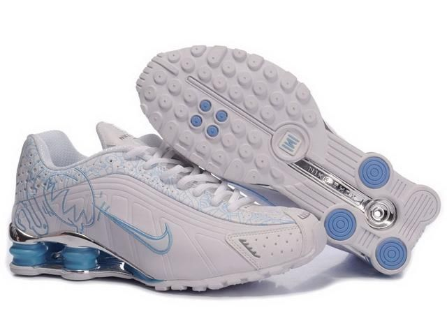 finest selection 2b042 500e7 ... inexpensive buy womens nike shox shoes white light blue brilliant  silver online from reliable womens nike