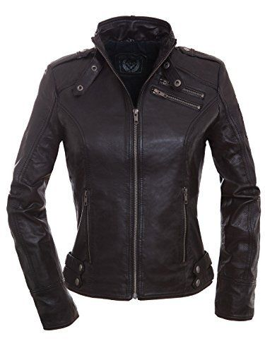 Biker lederjacke damen amazon