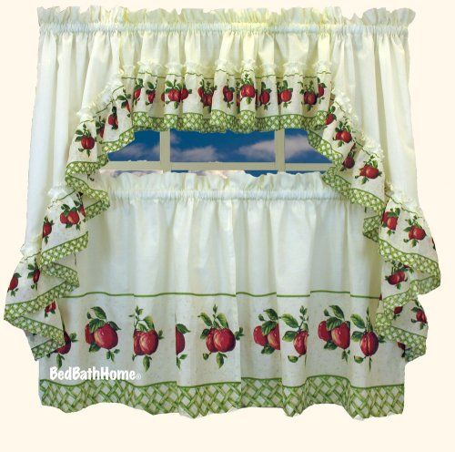Apple Curtains For Kitchen New Decorating Design