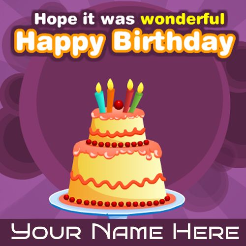 Write Your Name On Beautiful Birthday Wishes Cards Free