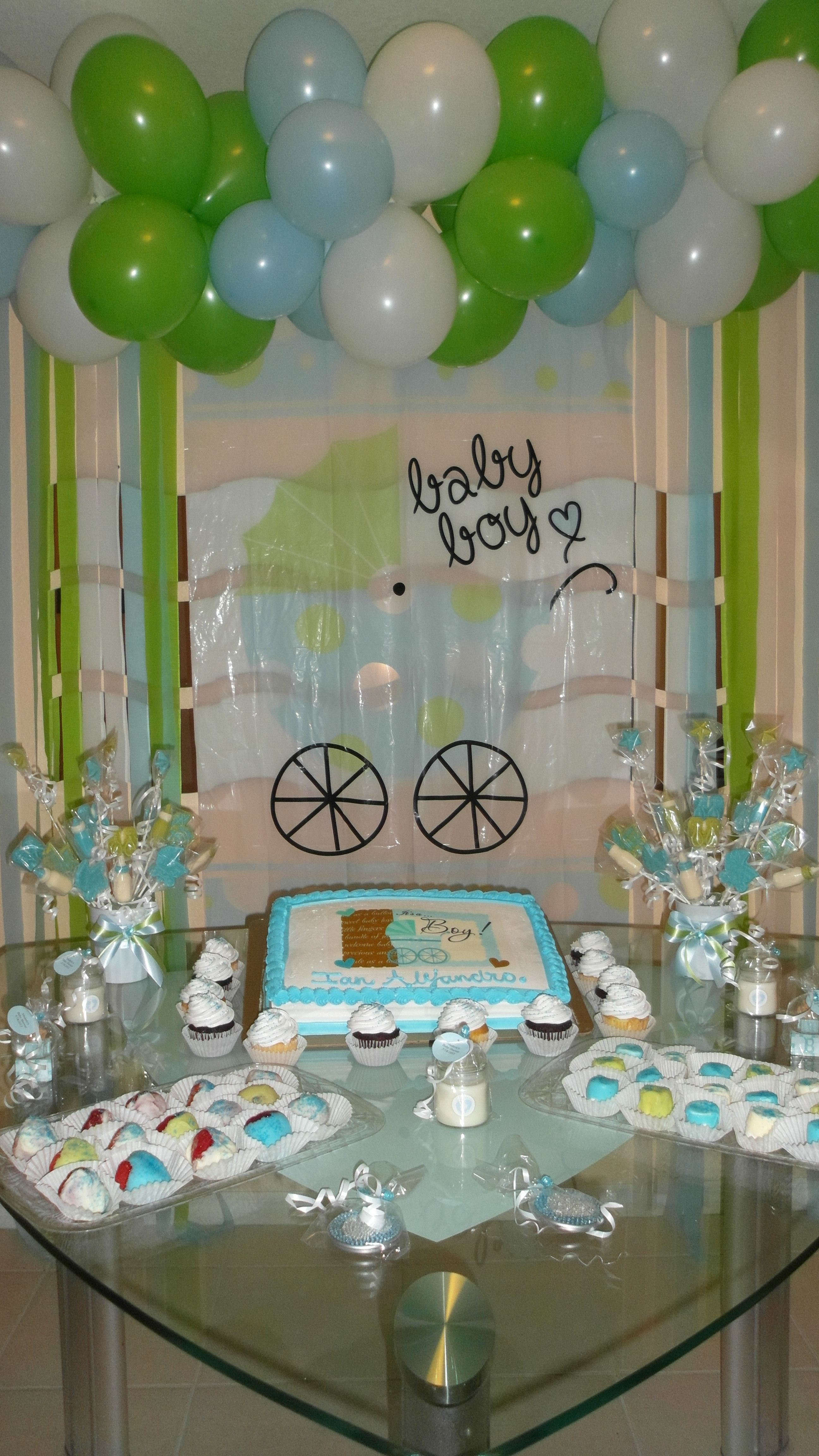 Baby shower boy decoration for Baby shower decoration stores