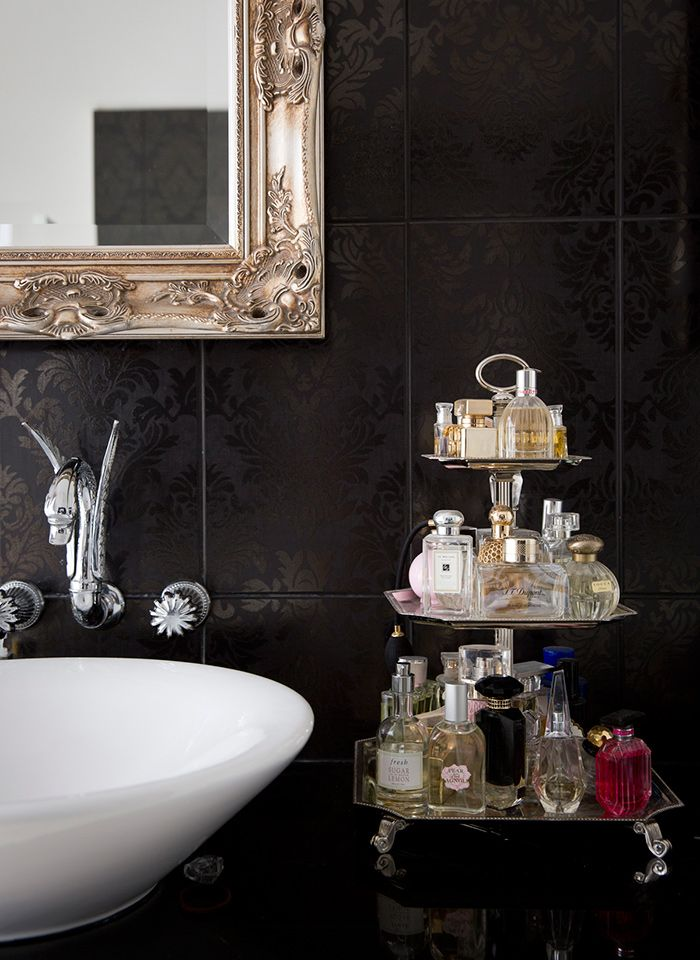 Jazz Up The Bathroom Counter By Using A Cupcake Stand To Fabulously Commonly Used Items