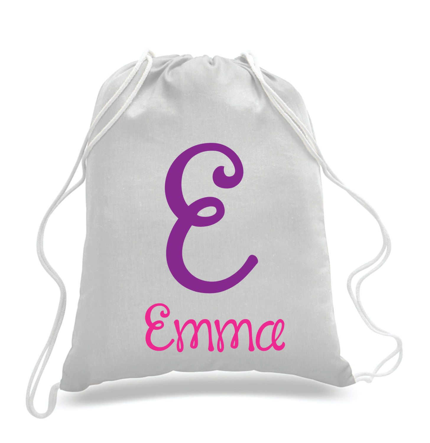 Personalized Monogrammed- Kids drawstring bags, gym bags ...