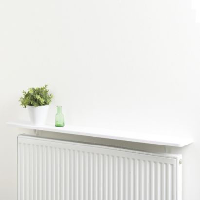 bu0026q radiator shelf kit white 920mm for hall