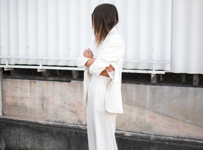 a2df2c987dab modern legacy fashion style blogger australia sass bide wide leg silk pants  faddoul label top zara boyfriend blazer white birkenstocks stree.