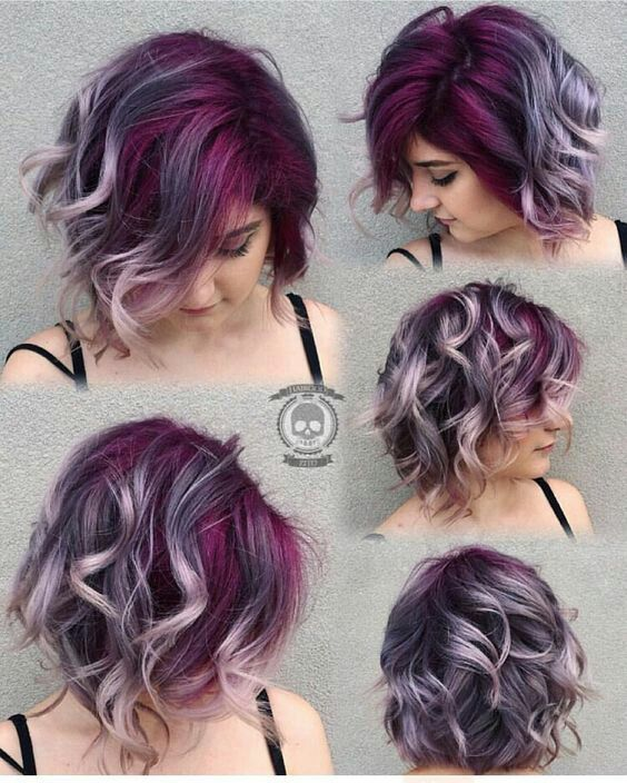 Ok So Maybe I Cant Really Do This One But I Wish Ombre Hair Color Short Hair Styles Purple Hair