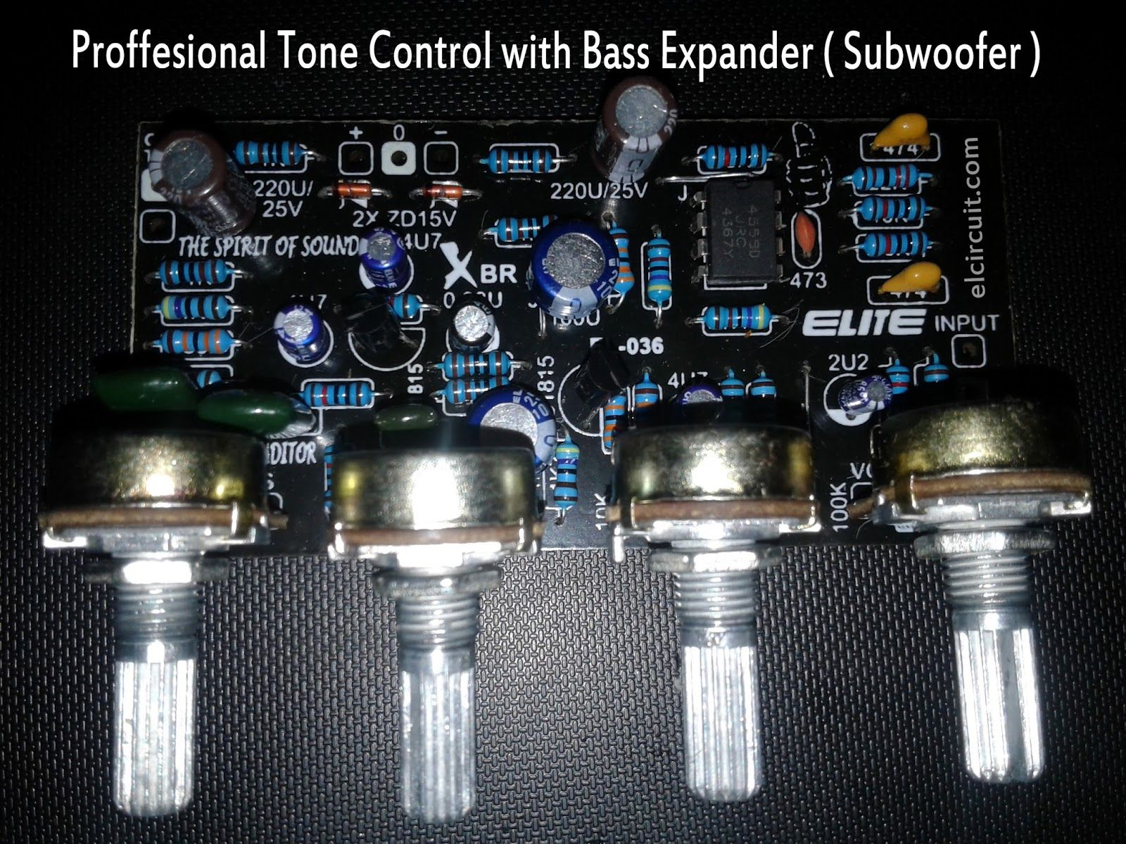 Professional Tone Control Mono Bass Expander And Subwoofer Mach Simple Amplifier With C945mje340 Tip3055 Kit