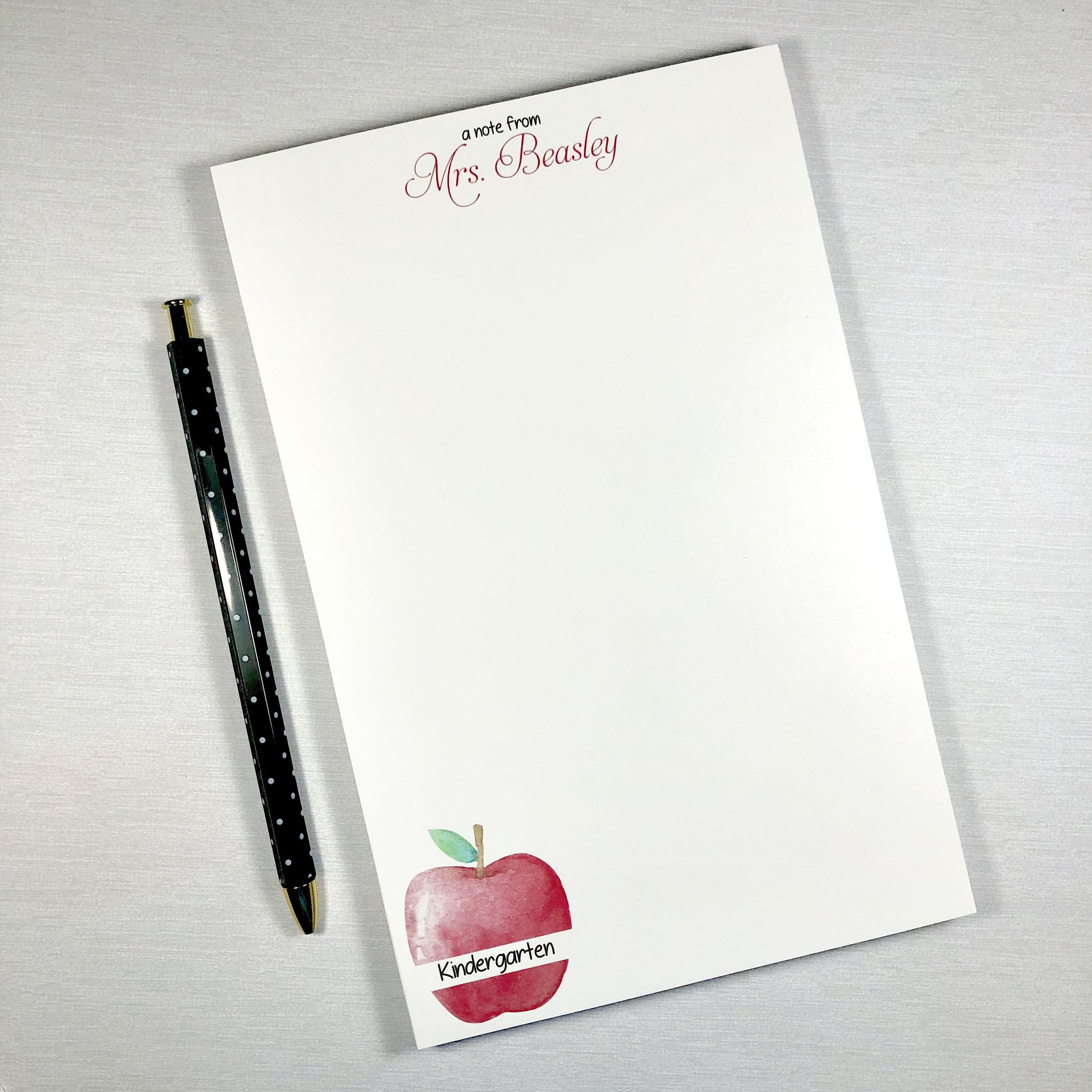 Teacher Notepad Teacher Gift Personalized Teacher Gift Teacher