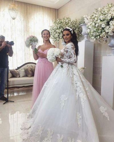 Vintage Lace Long Sleeves Ball Gown Wedding Dresses 2018 | dresses ...