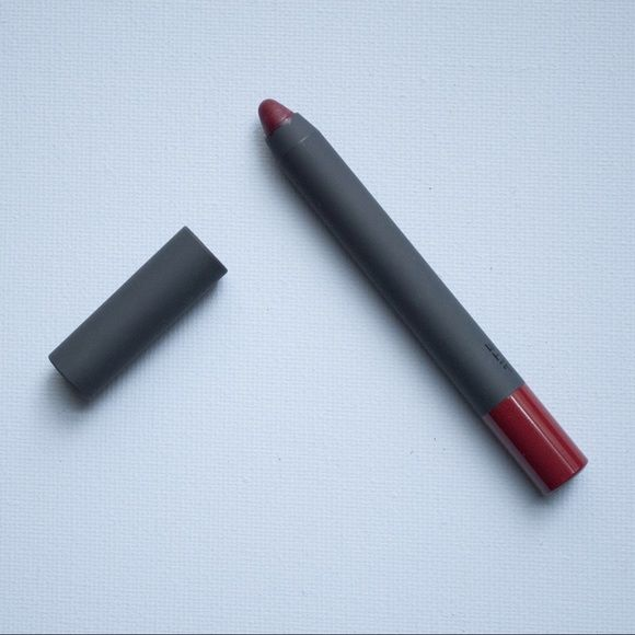 """Bite Beauty High Pigment Pencil in Tannin """"A long lasting, matte lip color!"""" Tannin is a beautiful deep red, I just have a lot of similar colors and this is just sitting around. Used it once when I first bought it but it's in perfect condition!! Bite Beauty Makeup Lipstick"""