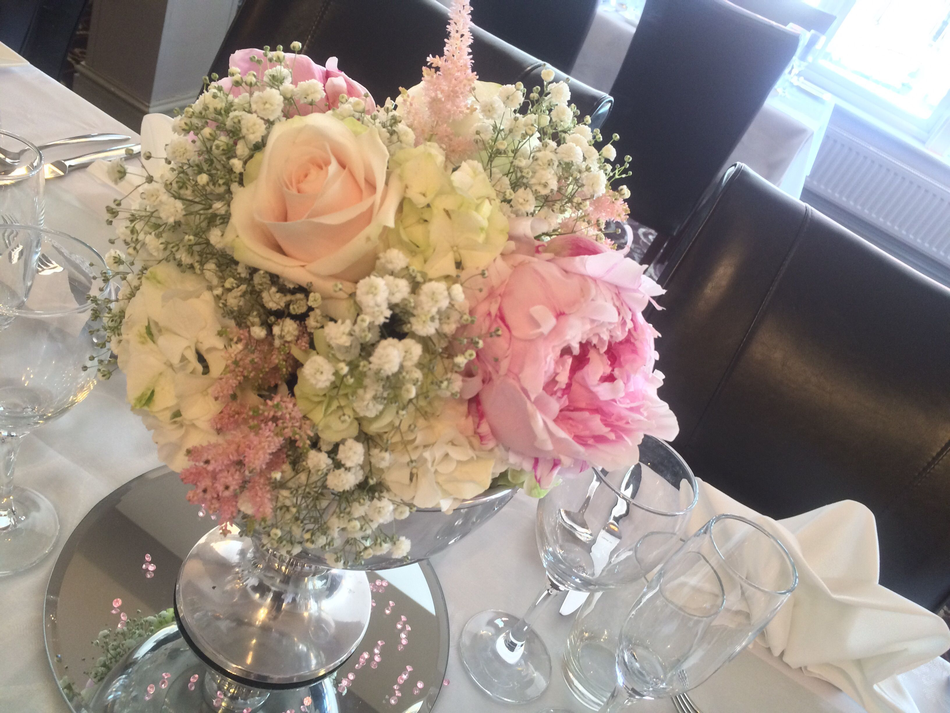 Wedding Flowers Pale Pink Peonies Sweet Avalanche Blush Roses Mini Spray