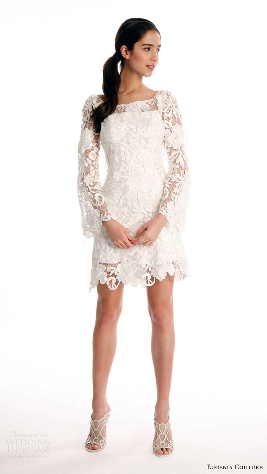 Eugenia Couture Spring 2017 Wedding Dresses Joy Bridal Collection Wedding Inspirasi Tea Length Wedding Dress Casual Wedding Dress Wedding Dresses Lace [ 1600 x 900 Pixel ]