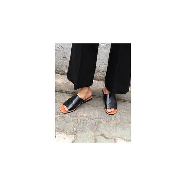 Open-Toe Flat Mules | Open toe flats