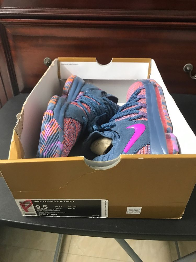new arrival 8b468 2f189 Nike Zoom KD 10 LMTD All Star Ocean Fog 897817-400 Size 9.5 ...