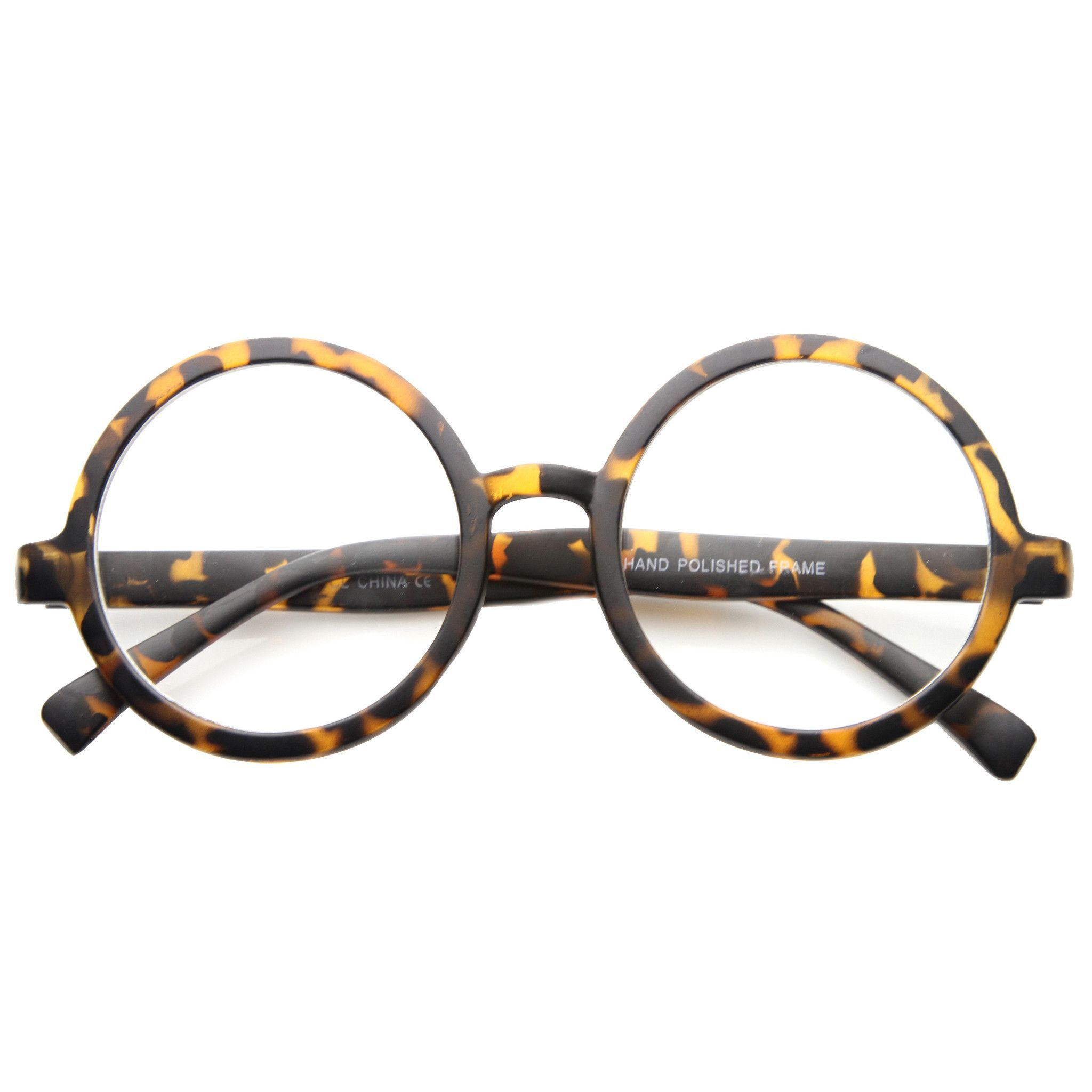 Retro Round Spectacles Clear Lens Glasses 8034 | Accessories ...