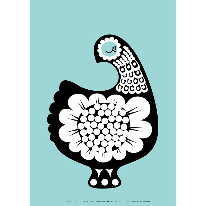 PaaPii Design - Poster A3 Bird Of Happiness