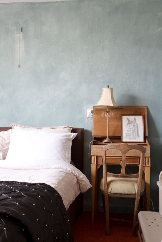 Muren schilderen met kalkverf | Wooninspiratie | Slaapkamer ...