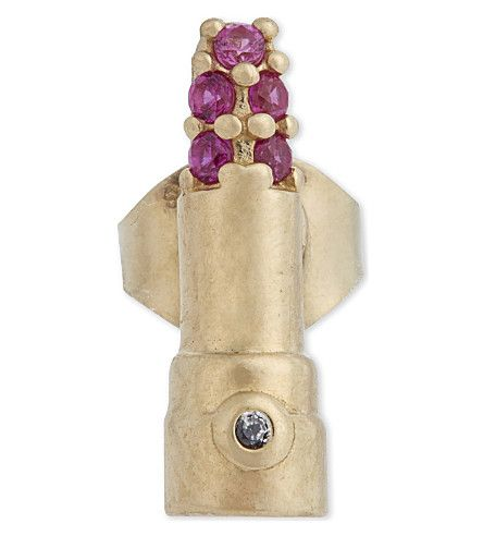 MARC JACOBS Crystal Lipstick Single Stud Earring. #marcjacobs #earrings