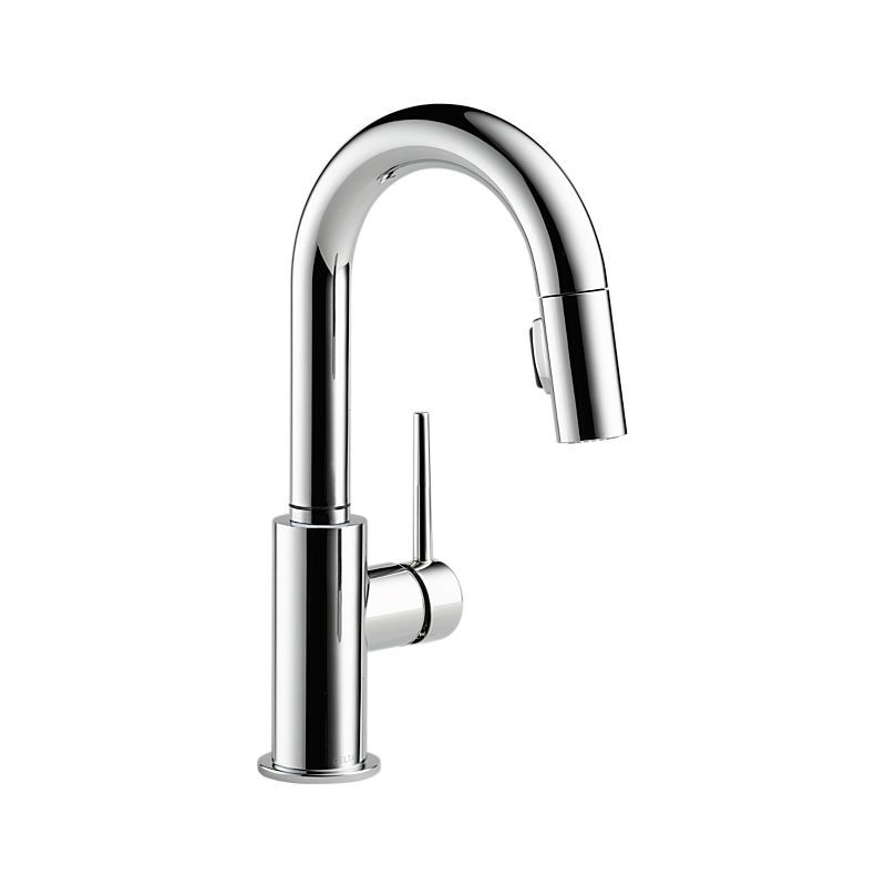 9959 Dst Trinsic Single Handle Pull Down Bar Prep Faucet Kitchen