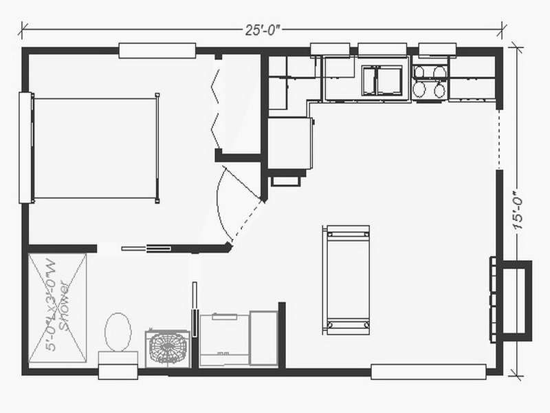 Small House Floor Plans Backyard Small Guest House Floor Plans