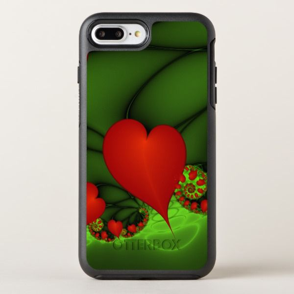 Dancing Red Hearts Modern Abstract Fractal Art Otterbox Iphone Case Zazzle Com Iphone Cases Otterbox Speck Iphone Cases Fractal Art