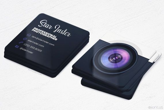 Mini Photographer Business Cards
