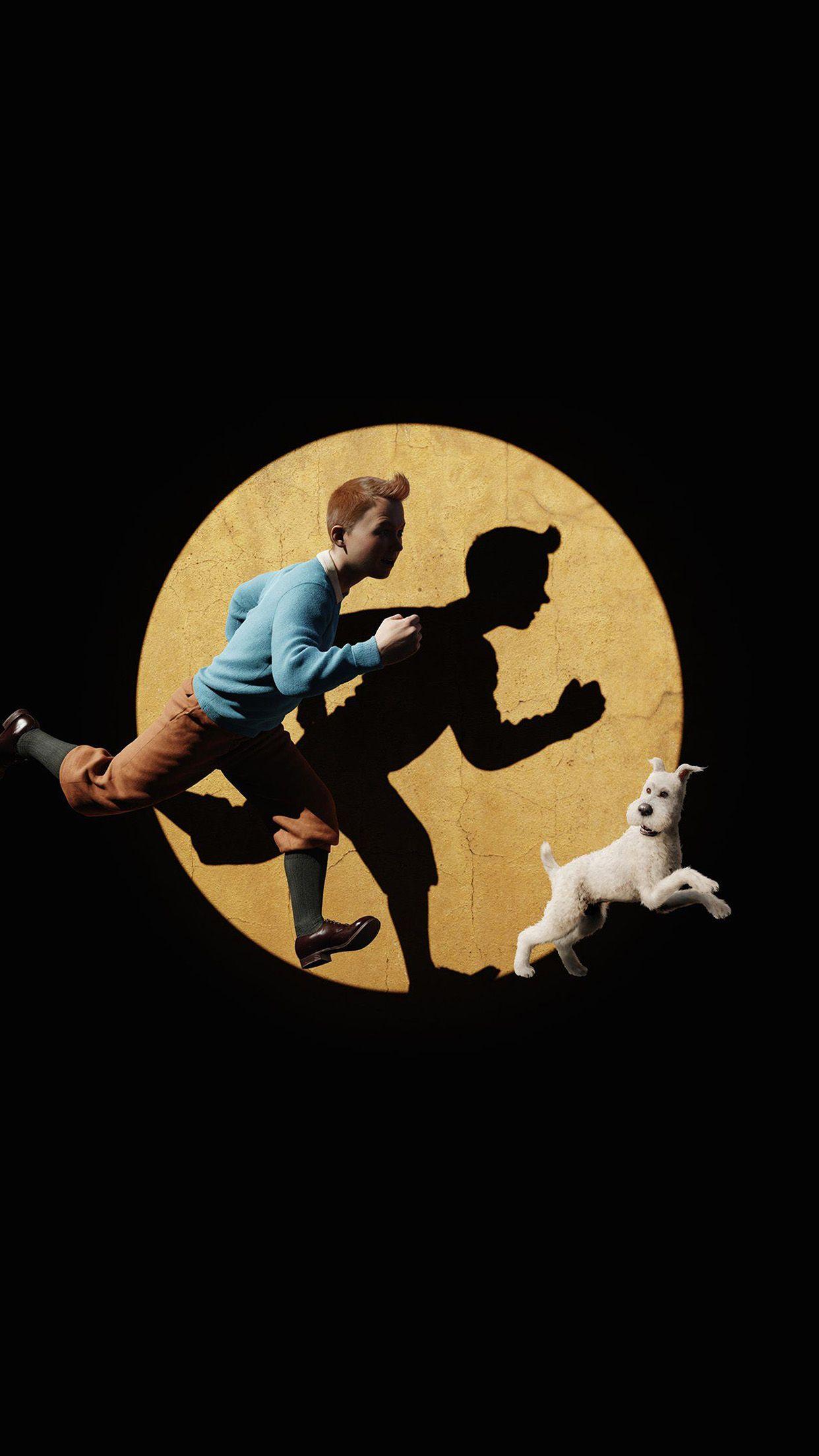 Wallpaper Tintin 3d Art Gelap Android Wallpaper