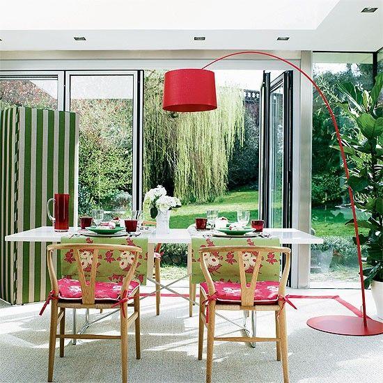 Bright garden dining room