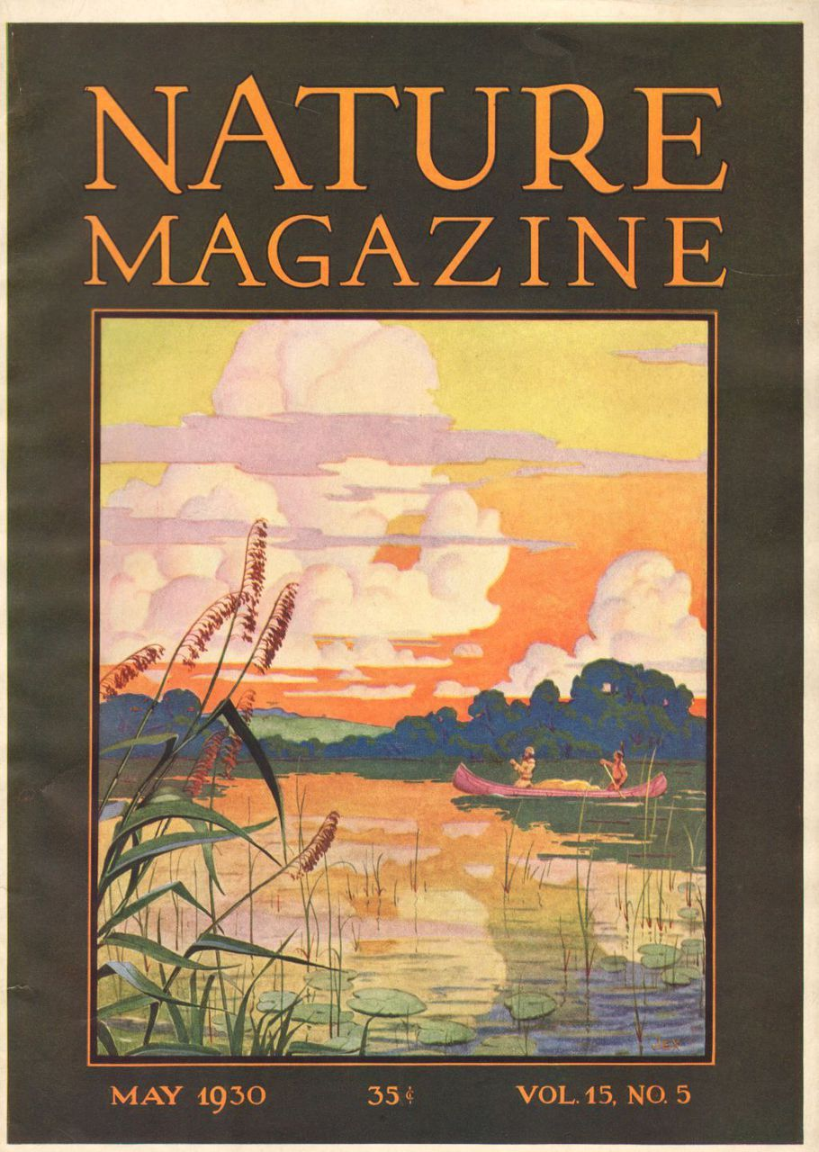 1930 Print Advertisement Cover Nature Magazine Canoe Exploration Indian Guide On River Giclee Art Print Art Illustration Art