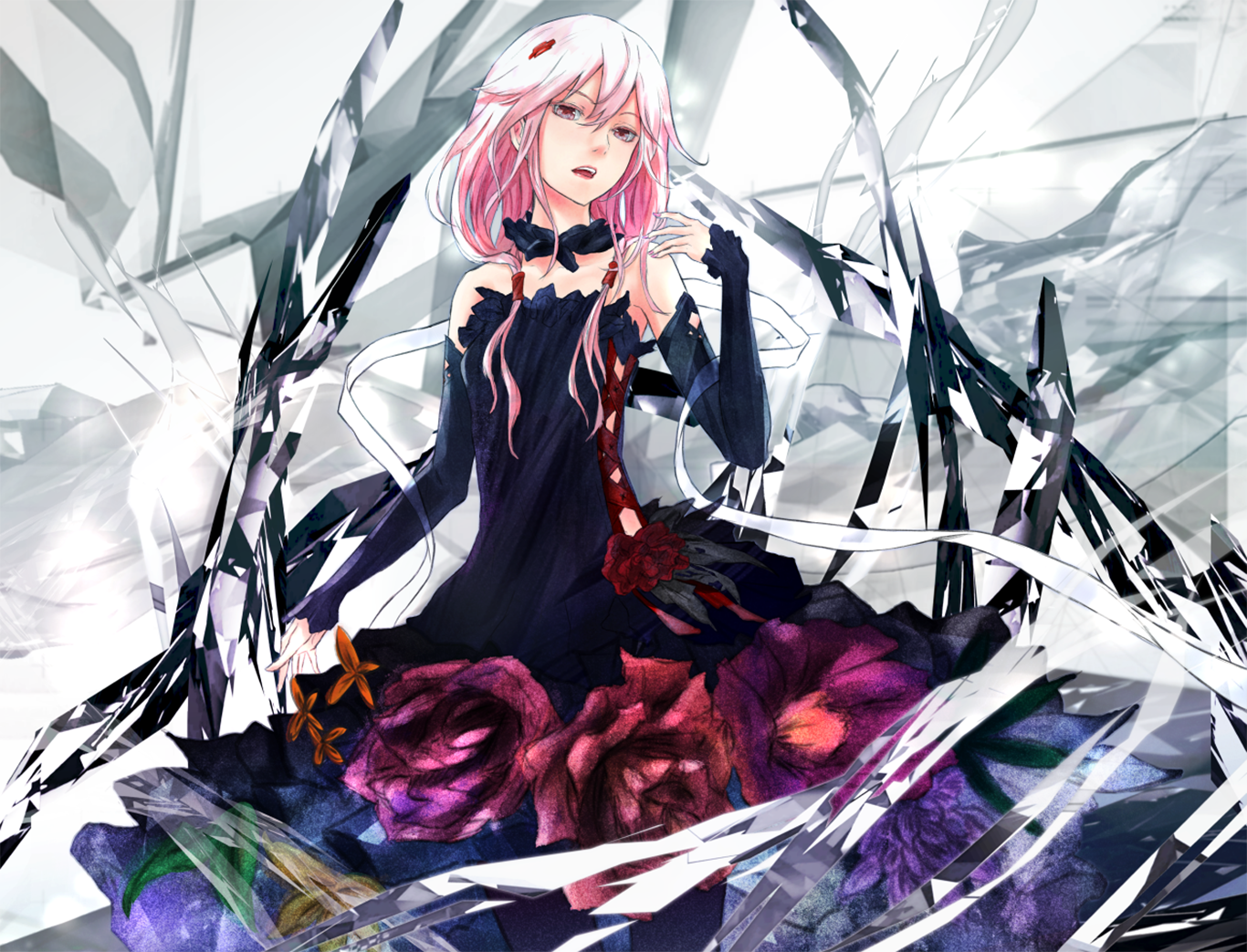 Anime Guilty Crown Inori Yuzuriha Wallpaper