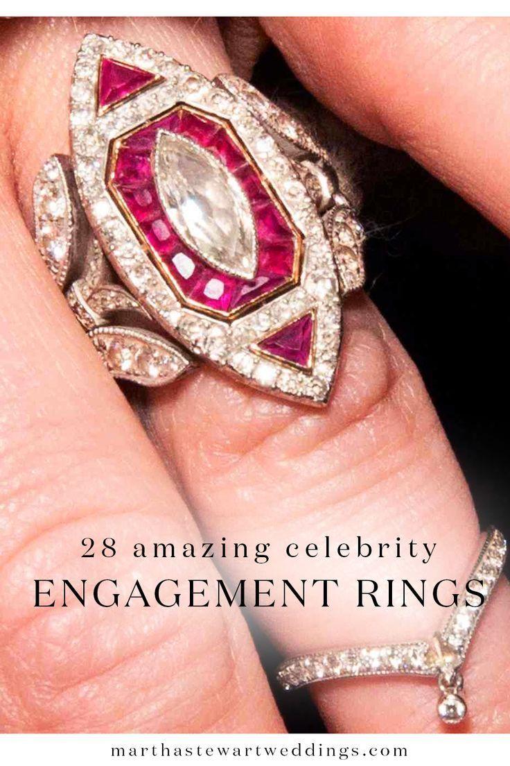28 Amazing Celebrity Engagement Rings | Martha Stewart Weddings ...
