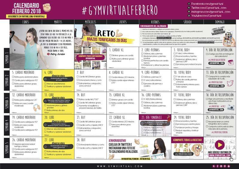 Calendario Septiembre Gymvirtual.Registro Confortably Numb Rutina De Abdominales Cardio