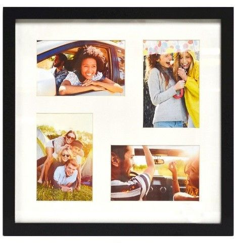 Thin Black Collage Frame - Holds Four 4\
