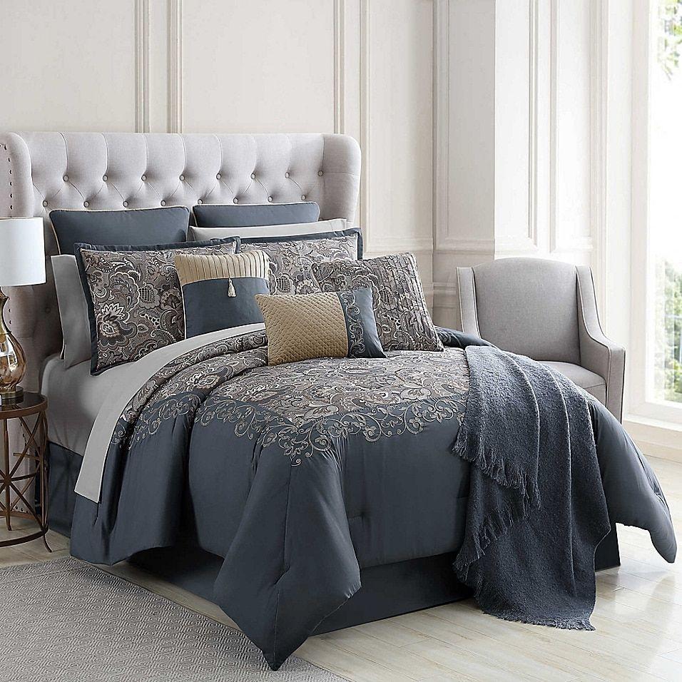 Courtland 14 Piece Comforter Set Bed Bath Beyond King Comforter Sets Comforter Sets California King Comforter Sets