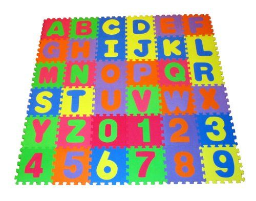 High Quality Educational Puzzle Foam Floor Mat Alphabet Letters Numbers For Kids Covers 36 Sq Ft 12 X 12 S Foam Mat Flooring Numbers For Kids Floor Mats