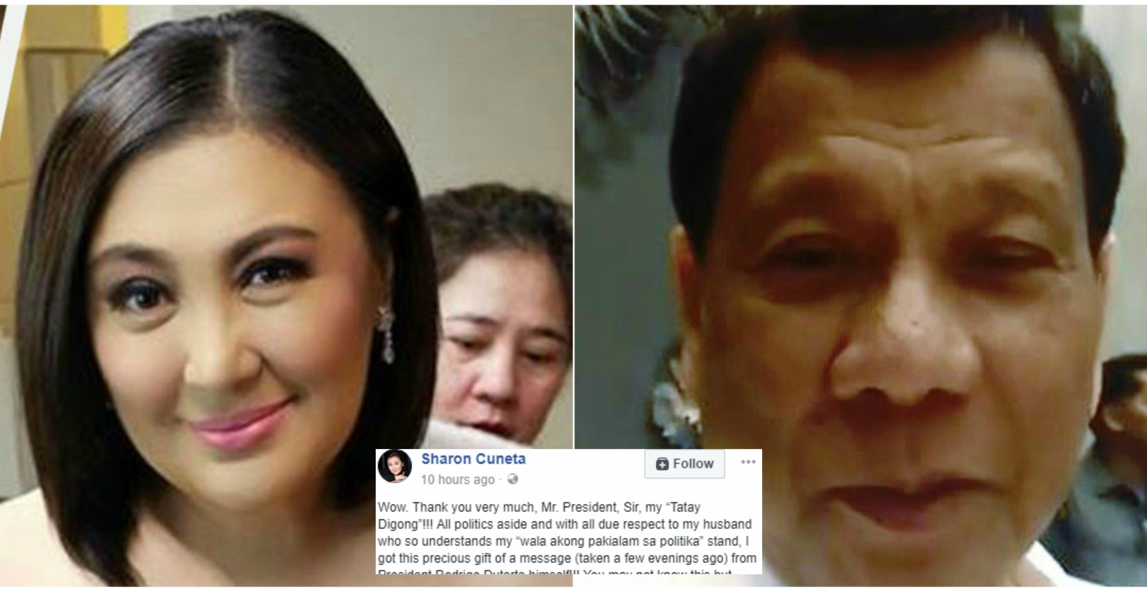 e13b3603505f Sharon Cuneta responds to her Tatay Digong after she receives a video  message from the President