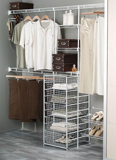 Ventilated Wire Wardrobe Organiser Wardrobe Shelving Wire