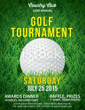 vector golf tournament poster invitation template large field of