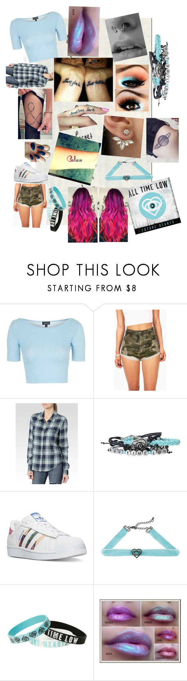 """""""Missing You(All Time Low)"""" by only-selflove ❤ liked on Polyvore featuring Topshop, Paige Denim and adidas"""