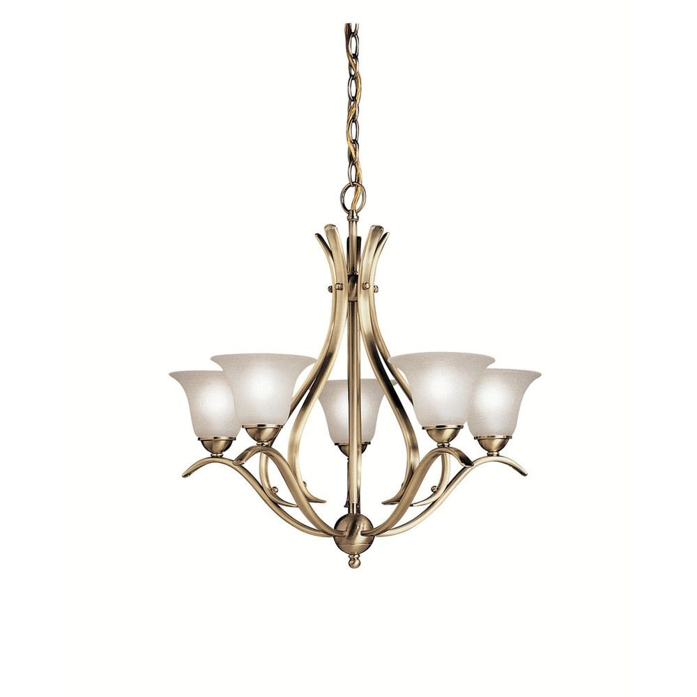 Quorum electra 8 light sputnik chandelier amp reviews wayfair - Kichler Lighting Dover Collection 5 Light Antique Brass Chandelier