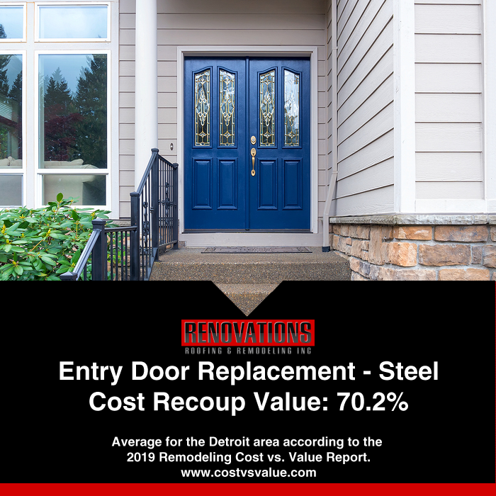 Replacing Entry Door With Steel Unit Return Of Investment Remodeling Costs Entry Doors Remodel