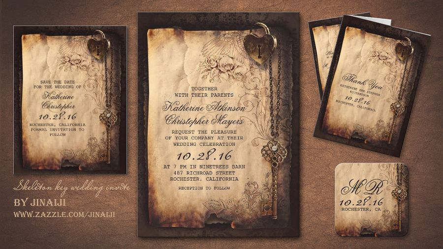 17 Best images about Wedding Invitations on Pinterest | Gothic ...
