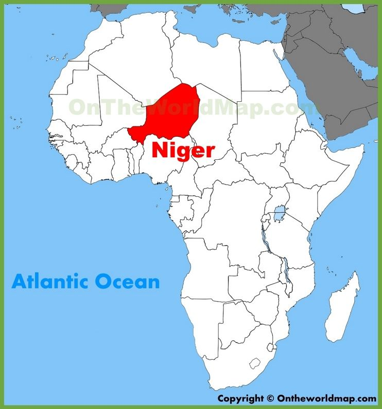 Niger Map Of Africa Niger location on the Africa map | Africa map, Map, Egypt travel